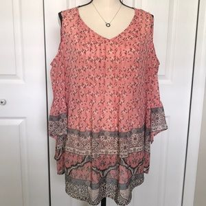 Style&Co Cold Shoulder Top